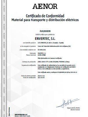 envertec_Aenor_certify